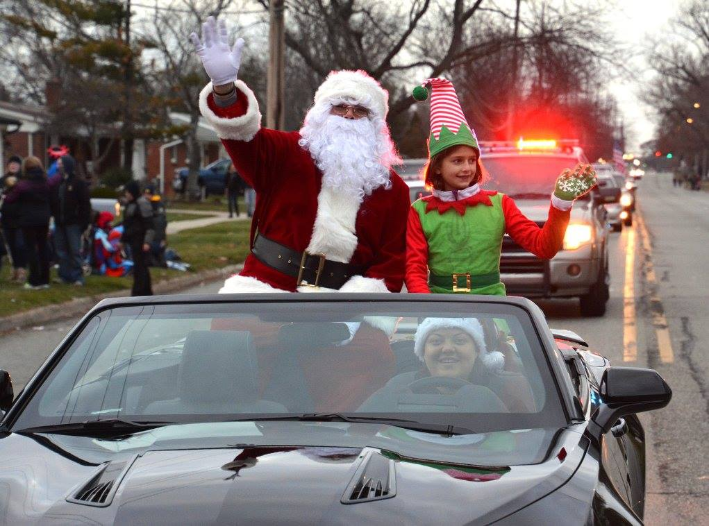 Santa and an Elf in a Car