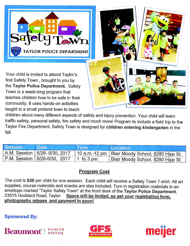 Safety Town Info Page