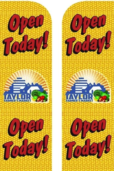 Farmers Market Open Today Banners