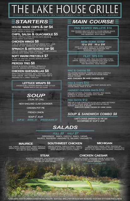 Lakes of Taylor Fall menu 2018 1