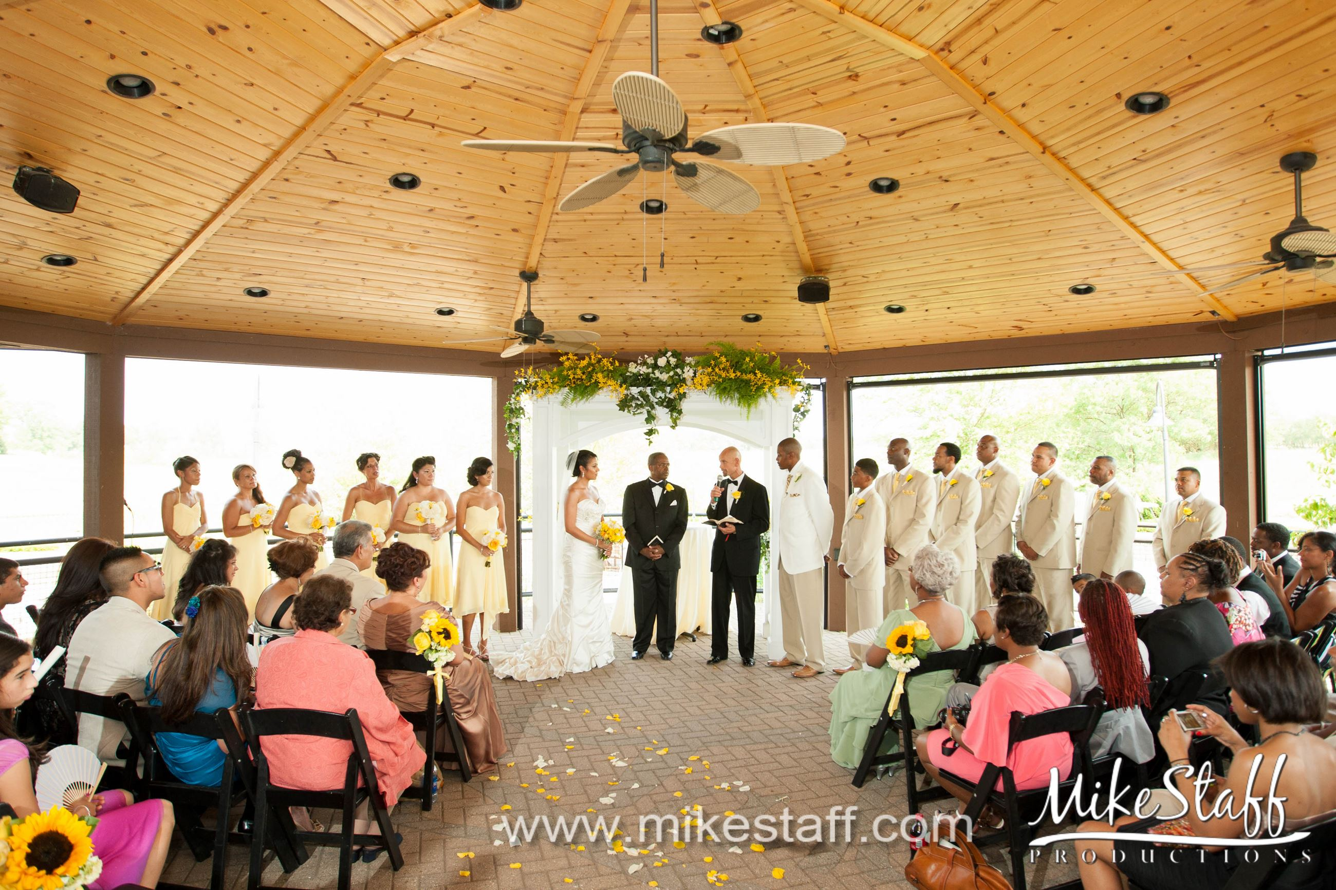 Wedding Ceremony on Terrace