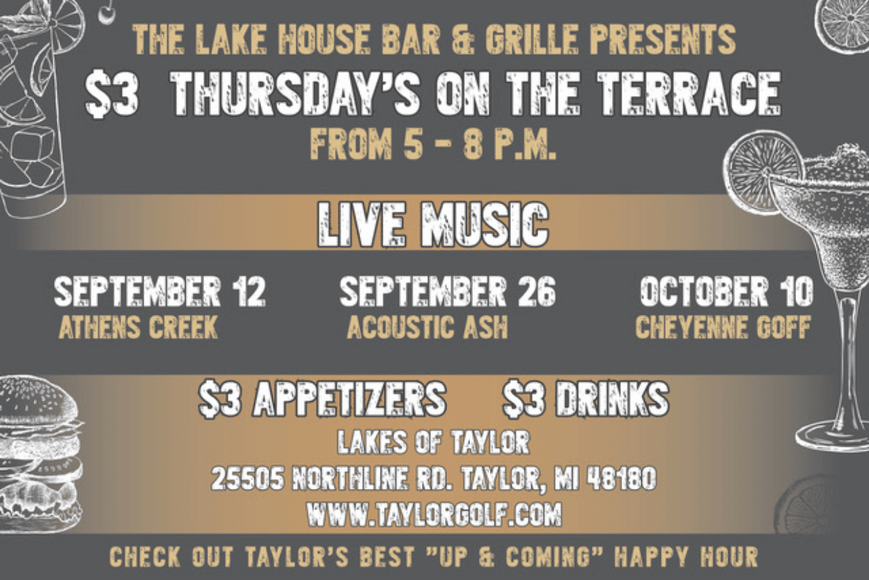Three Dollar Thursdays at the Lake House Grille