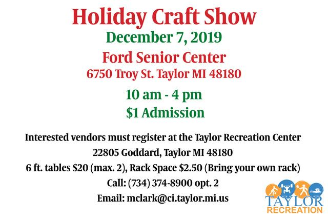 Taylor Rec Holiday Craft Show2