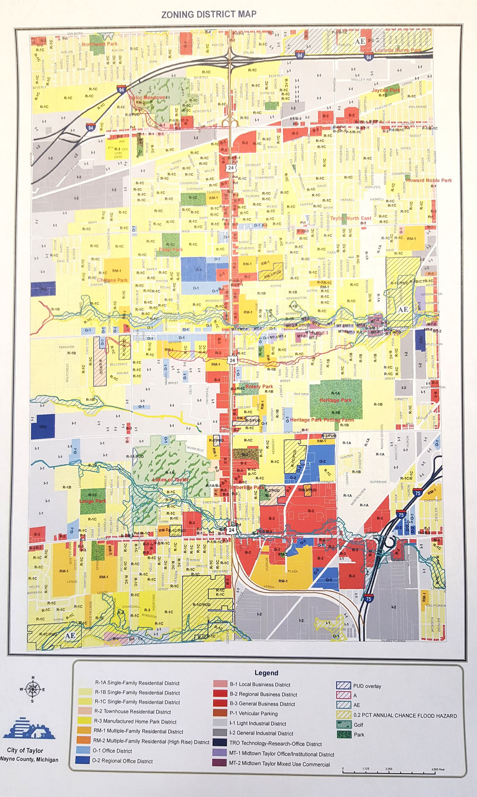Map Gallery Taylor MI - County map of michigan with cities