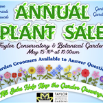 Conservatory Plant Sale Sign 2021