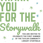 STORY WALK RIBBON CUT 2021